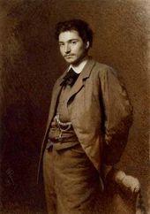 Ivan KRAMSKOI. Portrait of Fyodor Vasilyev. 1871