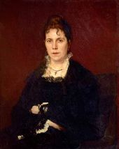 Ivan KRAMSKOI. Portrait of Sofia Kramskoi. 1879