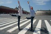 Julien Lestel and Gilles Porte. Red Square, Moscow. May 2010