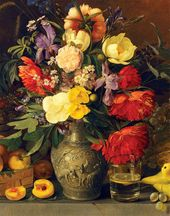 Fruit and Flowers. 1839. Detail