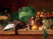 Dead Game, Vegetables and Mushrooms. 1854