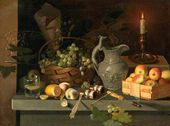 Fruit and a Candle. Late 1830s-early 1840s