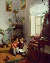 In the Room (the Boys Looking at the Pictures in the Album). 1854