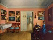 In the Rooms of the Artist Ivan Khutsky's Estate ʻZakharnichi', Polotsk Provinceи. 1855