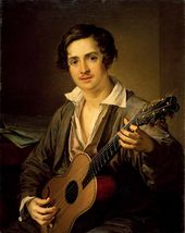 Vasily TROPININ. The Guitarist. 1832