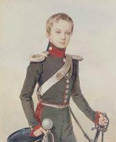 Pyotr SOKOLOV. Portrait of Grand Prince Alexander Nikolaevich. 1828