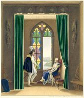 Fyodor TOLSTOY. Before Parting. A Knight Times Scene. 1844