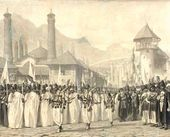 Vasily VERESHCHAGIN. Procession Celebrating Muharram in Shusha. 1865