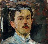 Arkady Plastov. Self-portrait in Youth. 1910s