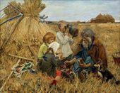 Arkady Plastov. Harvesting. 1945