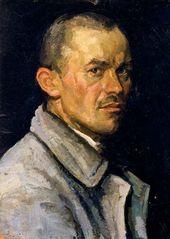 Arkady Plastov. Self-portrait. 1920s