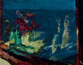 Arkady Plastov. Reflection in a Train Window. 1941