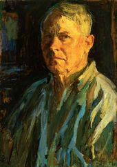 Arkady Plastov. Self-portrait in the Light of a Setting Sun. 1969–1971