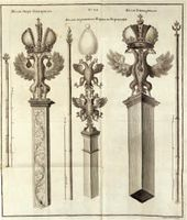 Ivan SOKOLOV. No 24. The Rod of the Grand Marshal. The Rod of the Supreme Marshal of the Coronation. The Rod of the Marshal (Hofmarschall). 1744