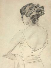 Valentin SEROV. Portrait of Tamara Karsavina. 1909