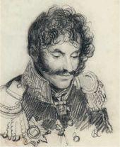 Orest KIPRENSKY. Portrait of Major General Yefim Chaplits. 1812