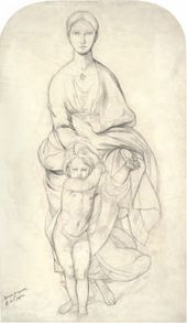 Fyodor BRUNI. The Virgin and Child. Early 1840s