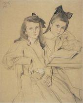 Valentin SEROV. Portrait of Children (N.A and T.A. Kasianov). 1907