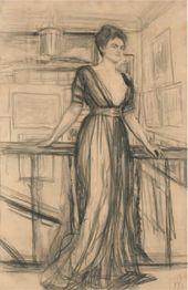 Valentin SEROV. Portrait of Princess Polina Shcherbatova. 1911