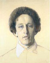 Konstantin SOMOV. Portrait of the Poet Alexander Blok. 1907
