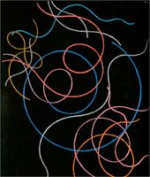 Sophie TAEUBER-ARP. Mouvements de lignes en couleurs (Movements of Coloured Lines). 1940