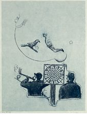 Max ERNST. Shoot the Moon. 1972