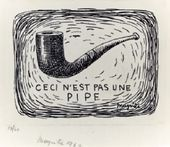 René MAGRITTE. Ceci n'est pas une pipe (This Is Not a Pipe). 1962