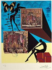 Salvador DALI. L'habit de la nudité à la manière surréaliste (Dressed in the Nude in the Surrealist Fashion). 1971
