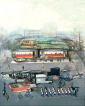 A City Square. 1926