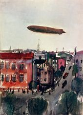 The Zeppelin over a City. 1932