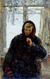Alexei TKACHEV. Zina by the Window. 1955