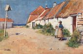 E.A. WALTON. Seaside Cottages with Dovecote, c.1883
