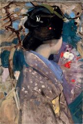 George HENRY. Japanese Lady with a Fan. 1894