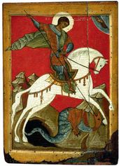 St. George and the Dragon. Second quarter of the 15th century. Novgorod