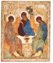 Andrei RUBLEV. The Holy Trinity. 1425-1427