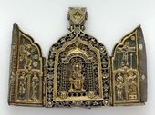 Folding Pectoral Icon. 1411-1412. Moscow