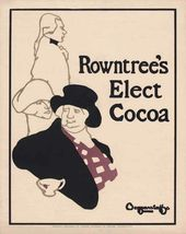 BEGGARSTAFF Brothers (James PRYDE, William NICHOLSON). Rowntree's Elect Cocoa. 1899