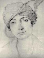 Léon BAKST. Portrait of Alice Garrett. 1910-е