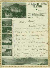 Alice Garrett's letter to Léon Bakst. (Summer 1924)
