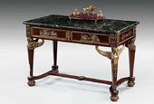 A French gilt bronze centre table. C. 1880
