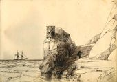 Drawing by Ivan Aivazovsky in Danilevsky's Album for Artists. November 24 1855