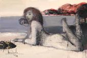 Reclining Nude on the Beach. 2010