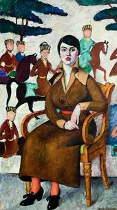 Ilya MASHKOV. Portrait of a Woman in an Armchair. 1913