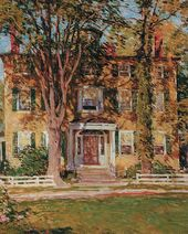 Willard Leroy METCALF. The House of Captain Lord, Kennebunkport, Maine. c. 1920