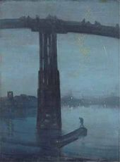 Nocturne: Blue and Gold - Old Battersea Bridge. 1872-1875