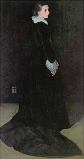 Arrangement in Black, No. 2: Portrait of Mrs. Louis Huth. 1872-1874