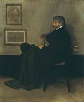 Arrangement in Grey and Black, No. 2: Portrait of Thomas Carlyle. 1872-1873