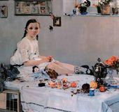 Portrait of Varya Adoratskaya. 1914