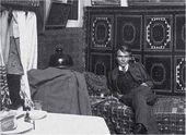 Nikolai Fechin in his studio of the Kazan Art School. 1910s