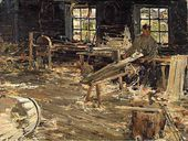 In the Cooperage. 1914